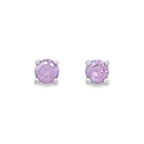 February Birthstone Stud Earrings