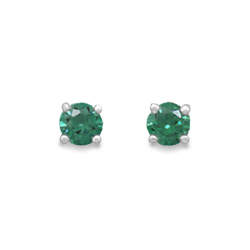 May Birthstone Stud Earrings