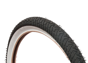 LS214 BLACK WHITEWALL BMX TYRE TIRE 20 X 2.125