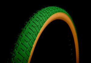 LS214 GREEN GUMWWALL BMX TYRE TIRE 20 X 2.125