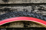 LS218 BLACK RED WALL MOUNTAIN BIKE TYRE TIRE 27.5 X 2.10
