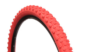 M1101 RED MOUNTAIN BIKE TYRE TIRE 26 X 2.125