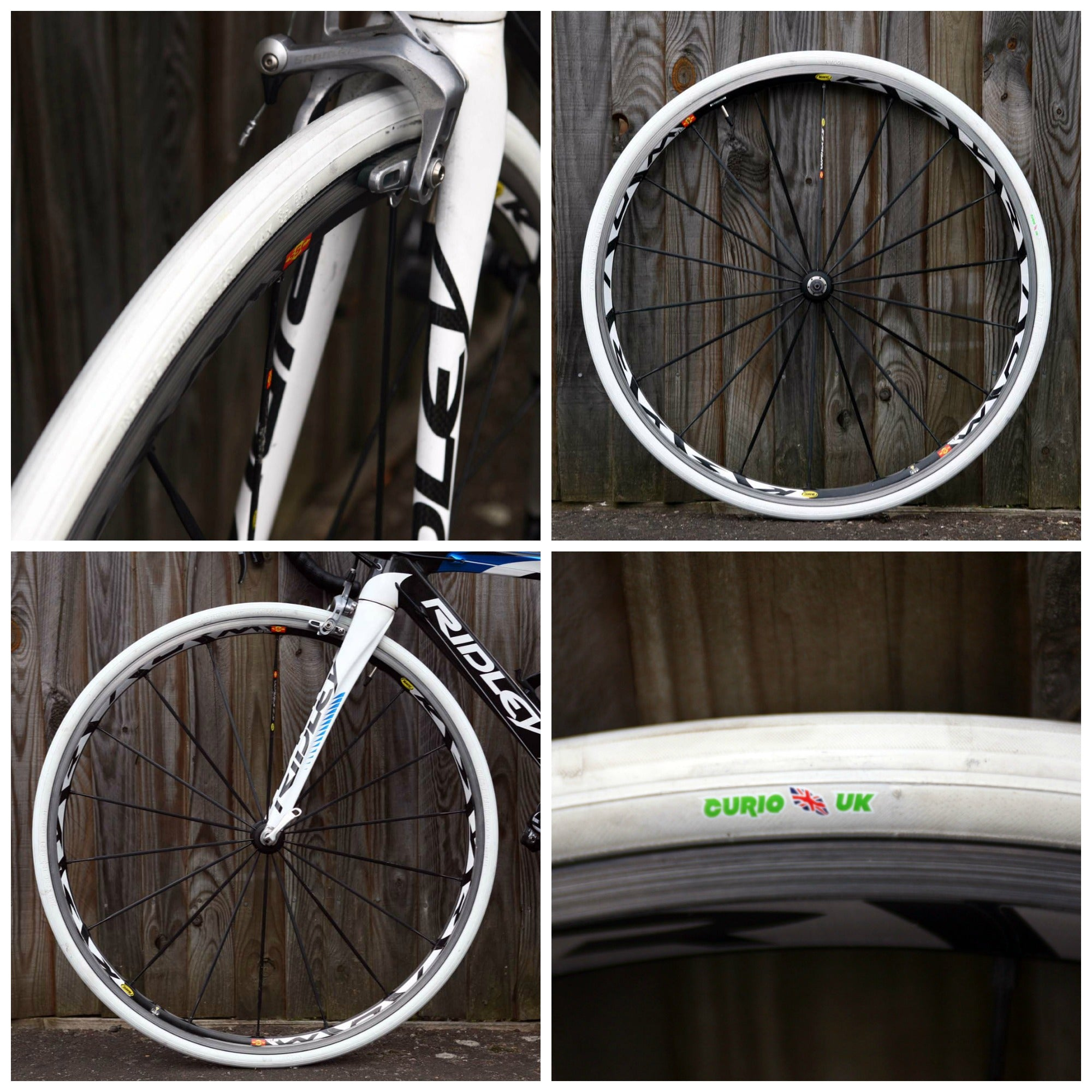 SA205 ALL WHITE 700 X 23 CLASSIC ROAD TYRE - With Aramid Puncture Protection