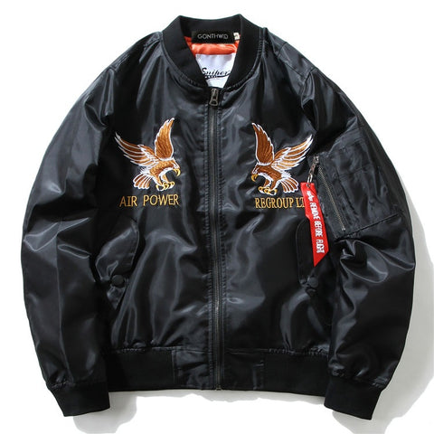 """DRAGON"" Black - Military Bomber Jacket"