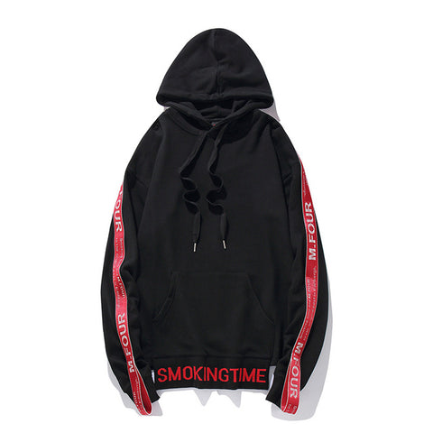 """SMOKE"" - Black Hooded Sweatshirt"