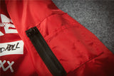 """TRUE"" Bomber Jacket - Red"