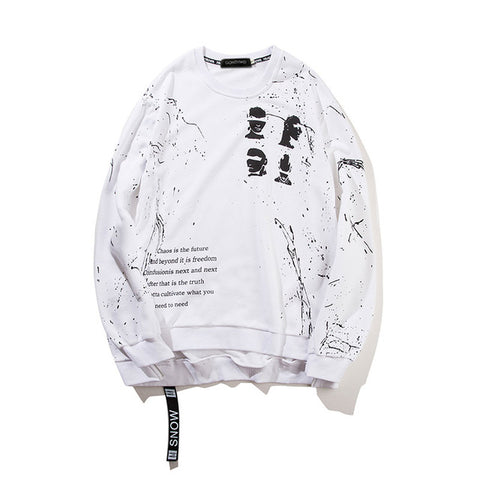 """RIPPING"" White - Streetwear Sweatshirt Pullover"