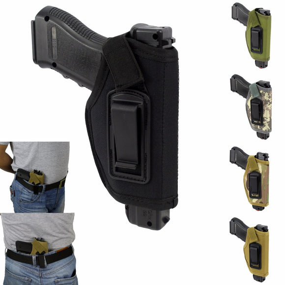 Concealed Belt Gun Holster IWB Holster for All Compact Subcompact Pistols Black