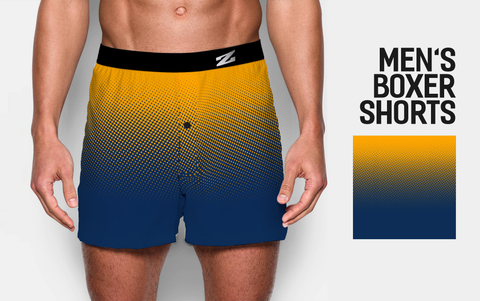MEN'S BLUE GRADIENT BOXER SHORTS