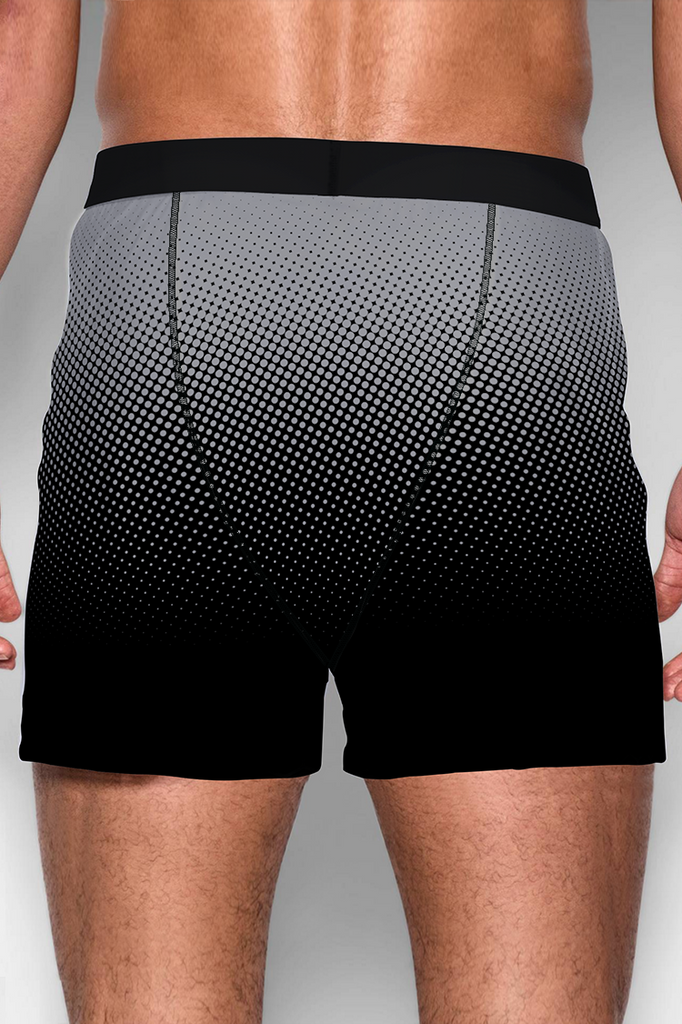 MEN'S BLACK GRADIENT PRINTED BOXER SHORTS