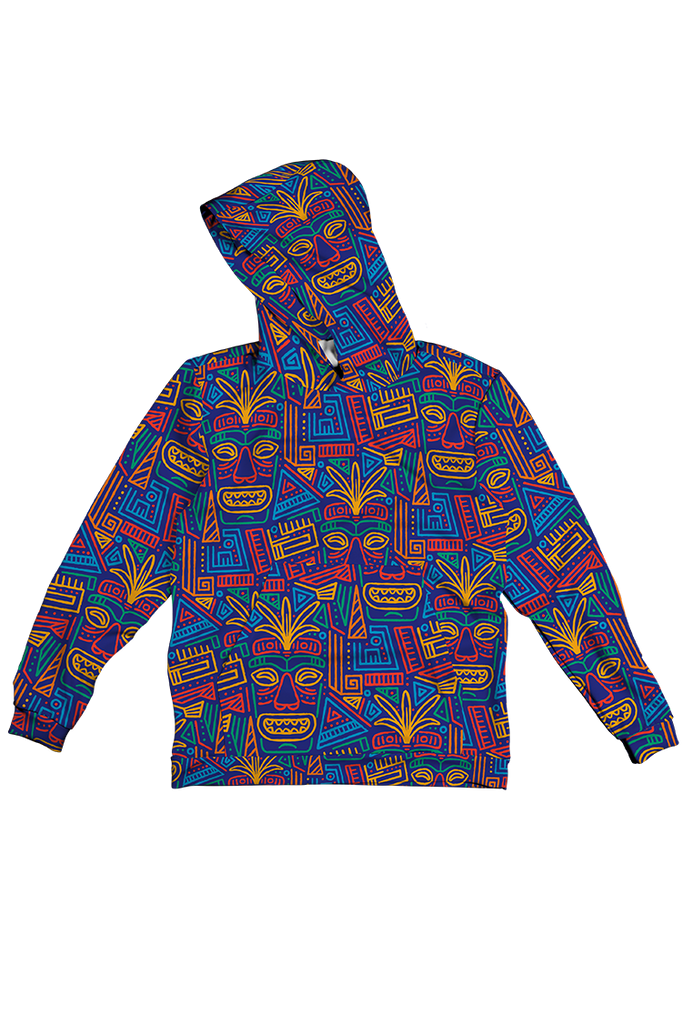 ABSTRACT DESIGN 100% POLYESTER HOODIE