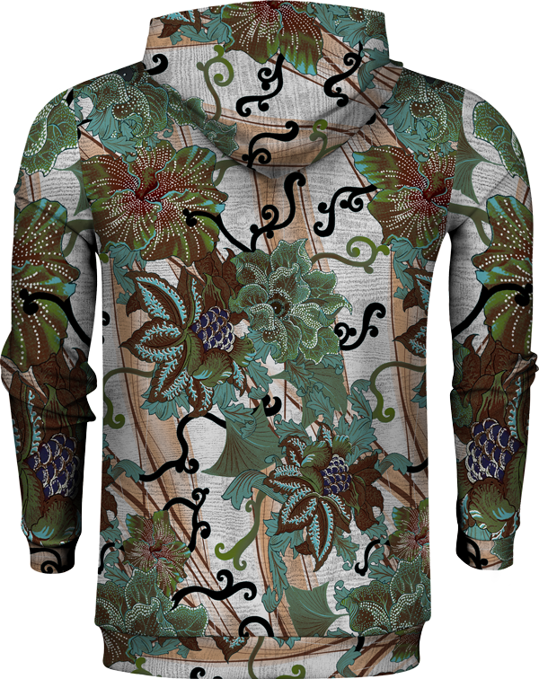 3D FLOWER ABSTRACT HOODIE