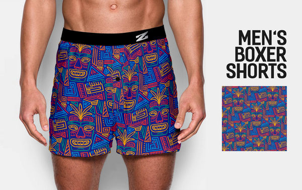MEN'S ABSTRACT DESIGN BOXER SHORTS