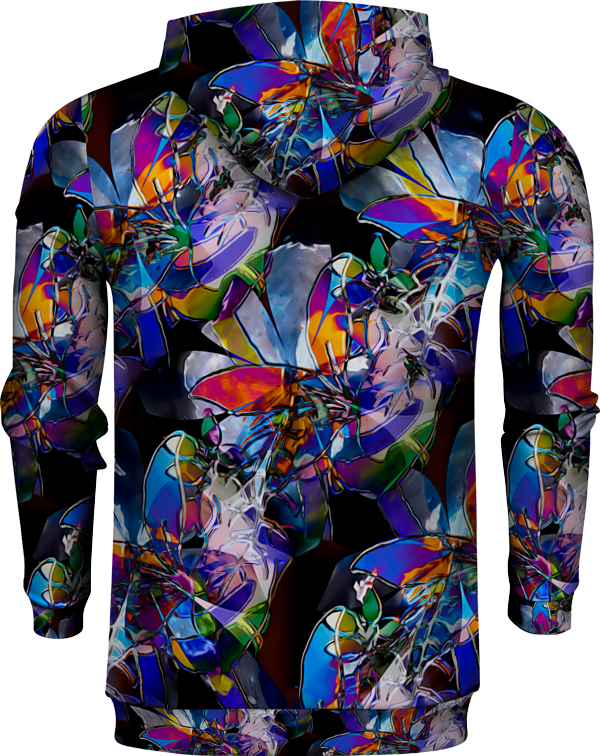 COLORFUL GLASS FLOWERS HOODIE