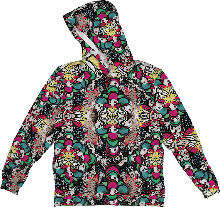 BUTTERFLY ABSTRACT HOODIE