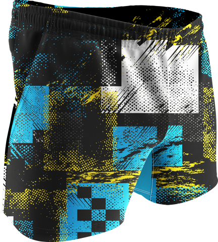 Abstract Printed Training Shorts