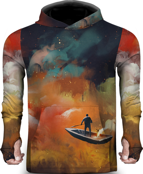 BOAT OUTER SPACE LIGHTWEIGHT SUN HOODIE