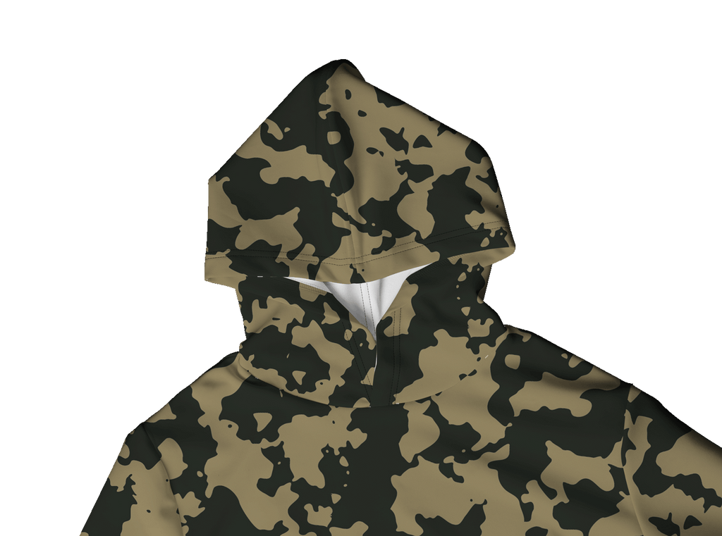 CAMO DARK 100% POLYESTER HOODIE
