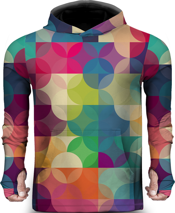CIRCLE COLORFUL LIGHTWEIGHT SUN HOODIE