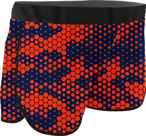 Women's Hexagon Printed Running Shorts