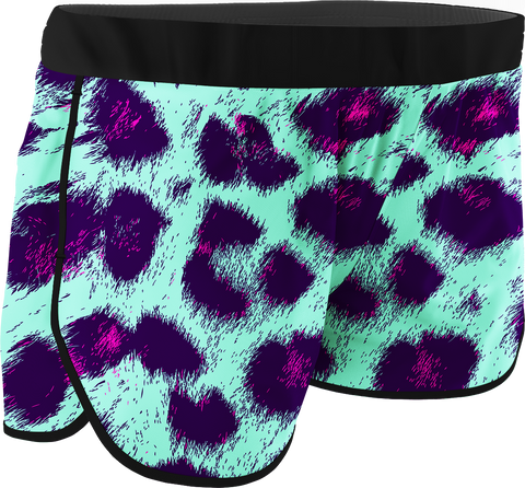 Women's Leopard Printed Running Shorts
