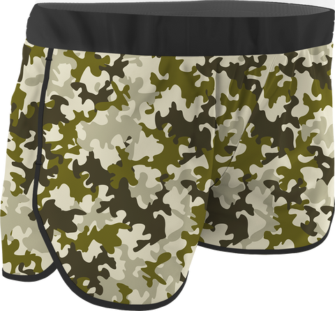 Women's Army Printed Running Shorts