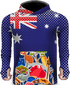 AUSTRALIAN FLAG COLORS LIGHTWEIGHT SUN HOODIE