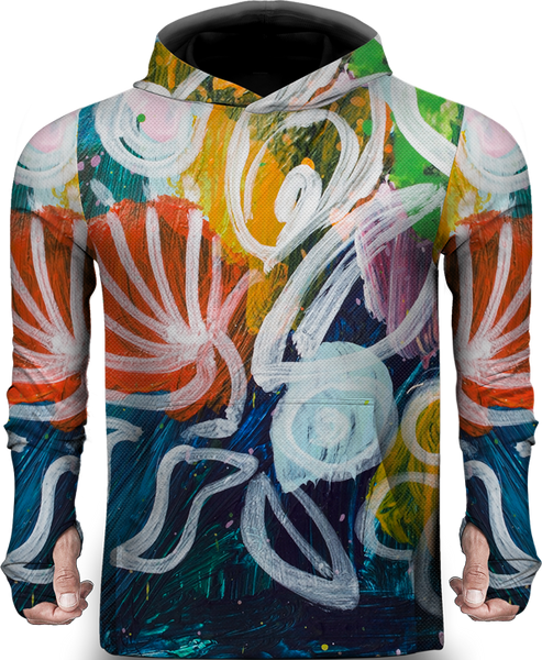 FLOWER OIL PAINT LIGHTWEIGHT SUN HOODIE