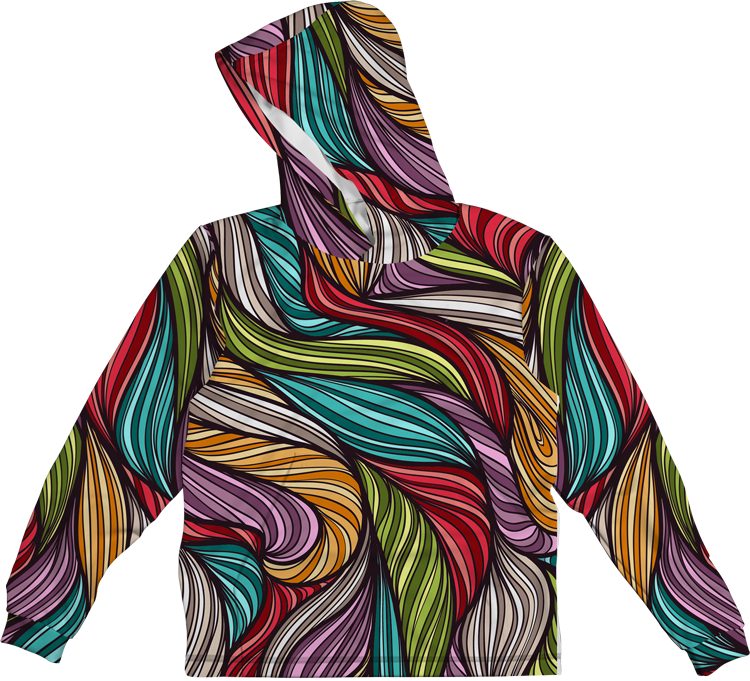 LEAF COLORFUL LIGHTWEIGHT SUN HOODIE