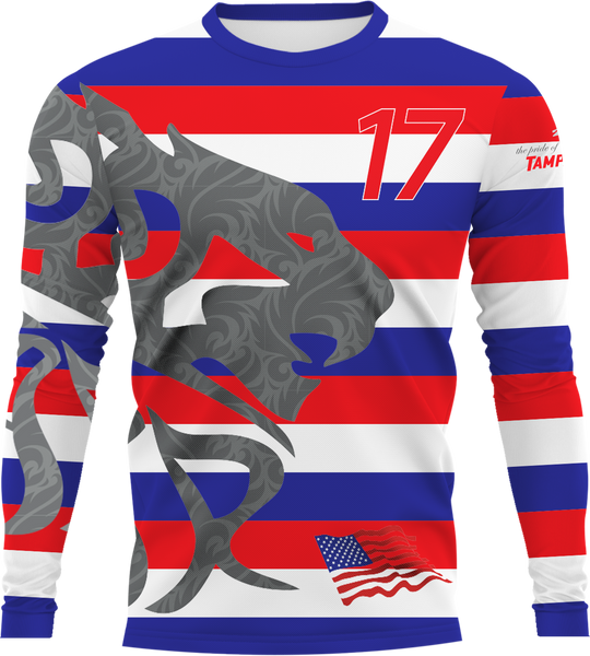 Uproar USA Stripes Longsleeve- fabric options