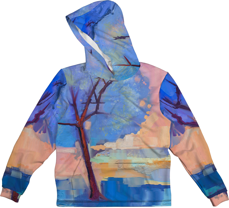 OIL PAINT TREE LIGHTWEIGHT SUN HOODIE