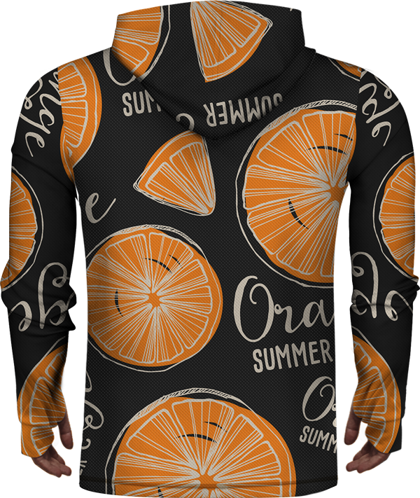 ORANGE SUMMER LIGHTWEIGHT SUN HOODIE