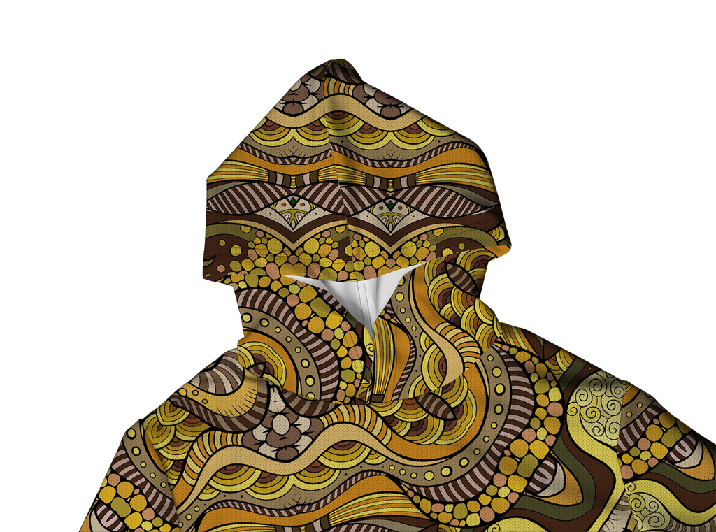 PATTERN SEA YELLOW LIGHTWEIGHT SUN HOODIE