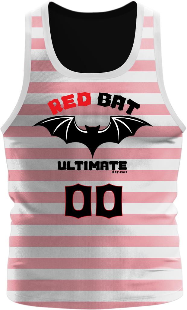 Red Bat Single Layer Reversible Tanktop