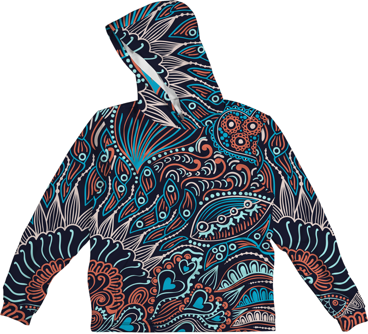 SEA COLORFUL LIGHTWEIGHT SUN HOODIE