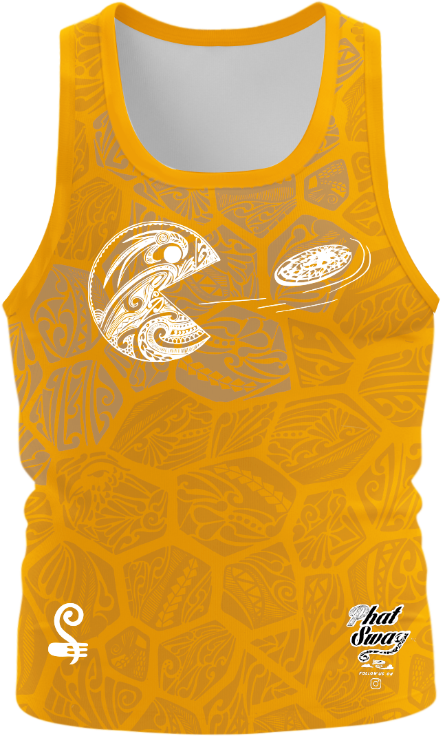 Tokomaru Bay HAT Orange Singlet