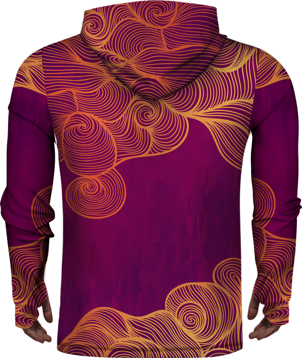 ABSTRACT LEAF LIGHTWEIGHT SUN HOODIE