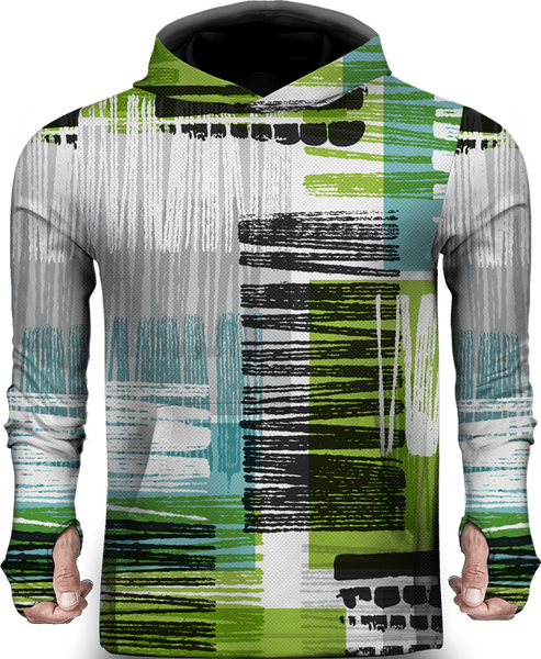 ABSTRACT PATTERN 3D LIGHTWEIGHT SUN HOODIE