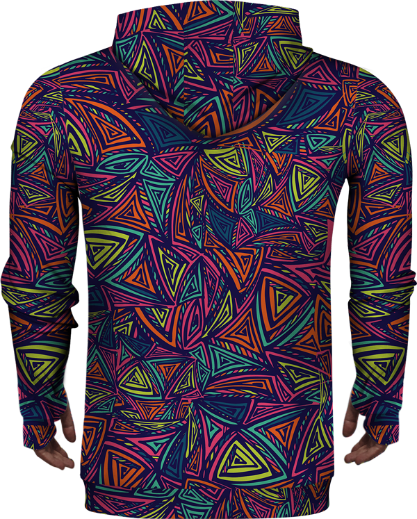 Zip Up Hoodie Abstract