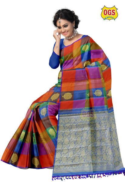 WEEDING SILK SAREE MULTI COLOR SALEM SILK
