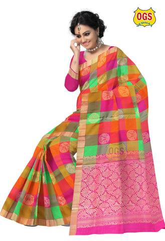SOFT SILK MULTI COLOR SALEM SILK