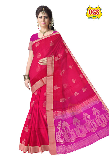 SILK COTTON SAREE - SC001