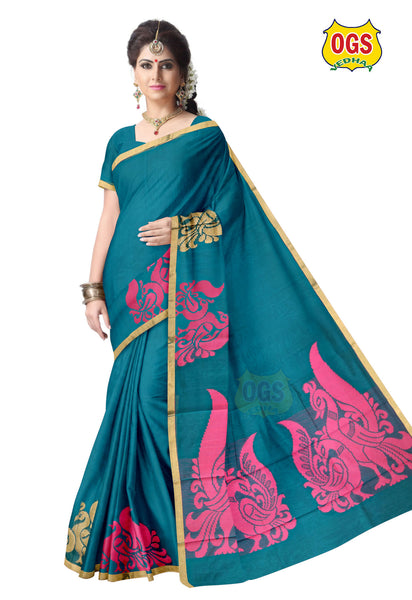SILK COTTON SAREE - SC005