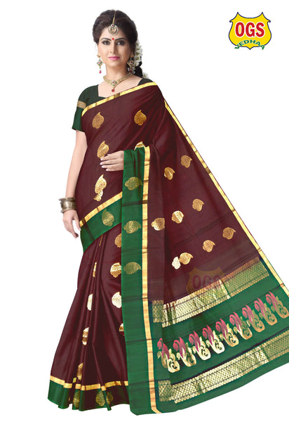 SILK COTTON SAREE - SC007