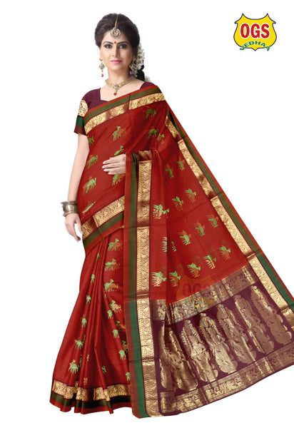 SILK COTTON SAREE - SC009