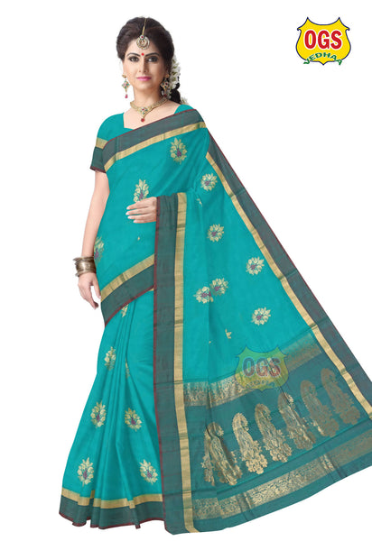 SILK COTTON SAREE - SC011