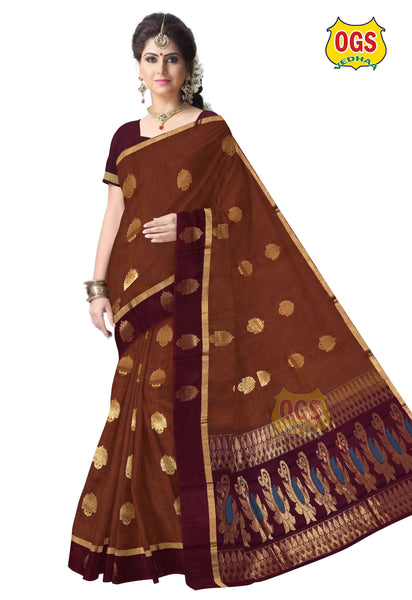 SILK COTTON SAREE - SC015