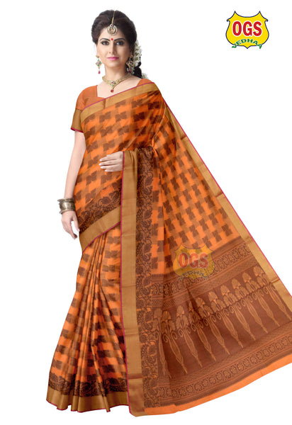 SILK COTTON SAREE - SC019