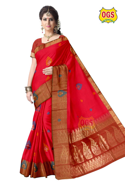 SILK COTTON SAREE - SC021