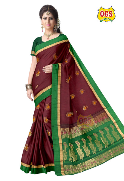 SILK COTTON SAREE - SC027